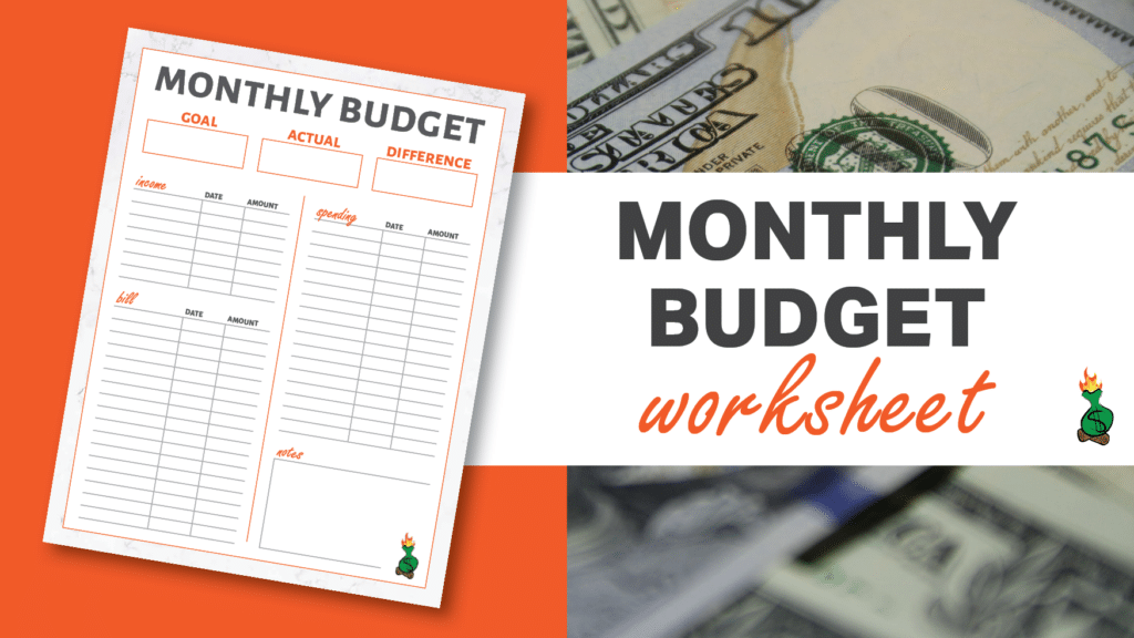 Free Printable Budget Sheets article graphics
