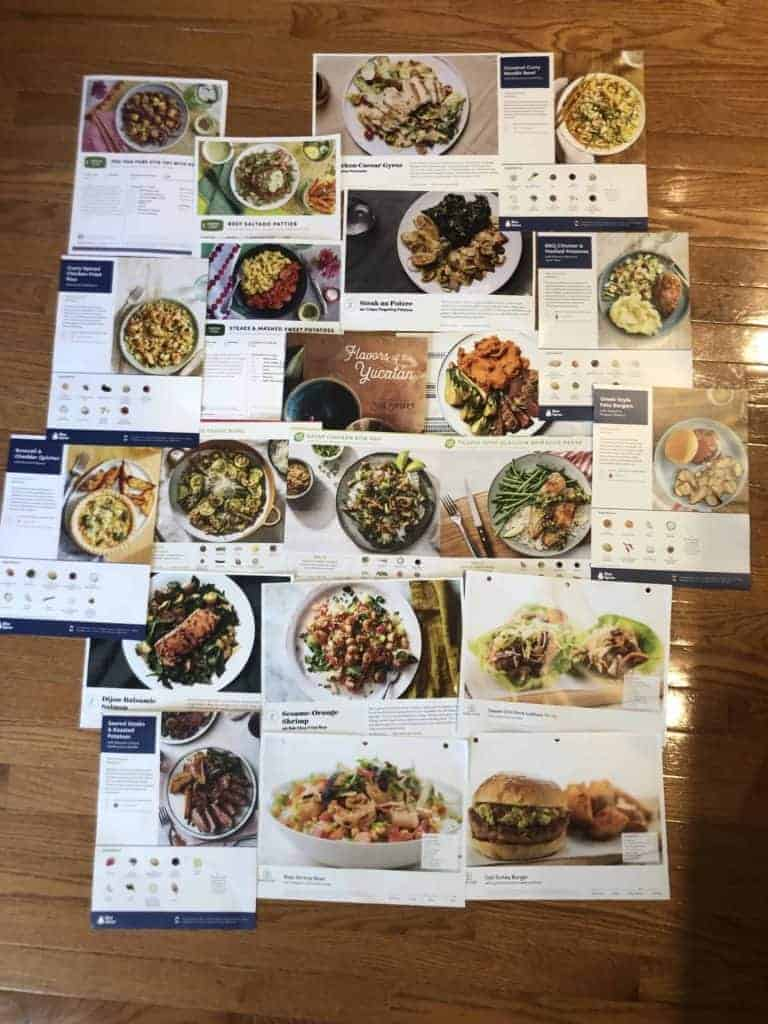 Meal Delivery Service Recipe Cards