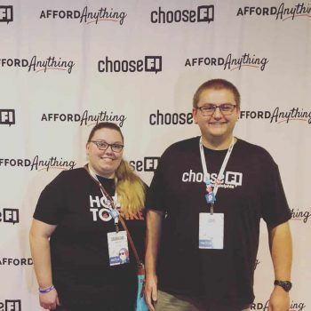 John and Sam ChooseFI Foundation Fundraiser Fincon2019