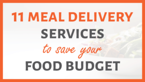 Meal Delivery Services Sidebar