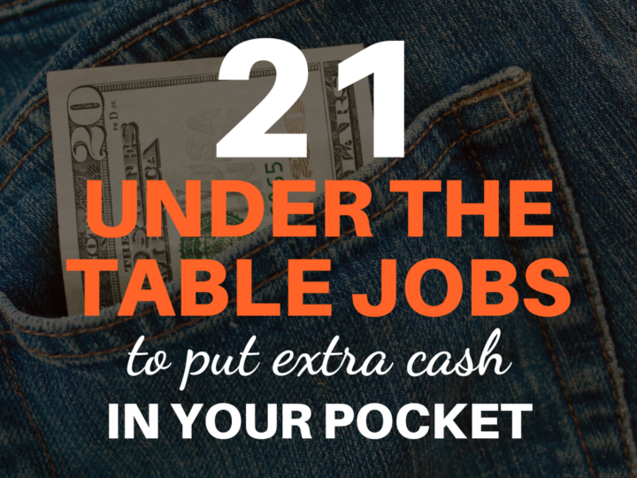21 Under The Table Jobs That Pay Cash